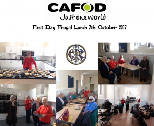 CAFOD Fast Day Frugal Lunch 7th October 2017